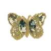Motif Sequin/beads Butterflies Light Green 3-tone